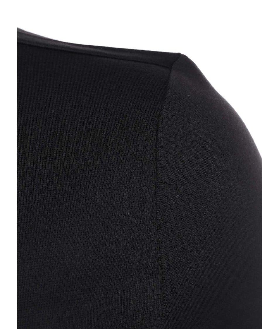 Černé šaty 3/4 rukávem ONLY Style