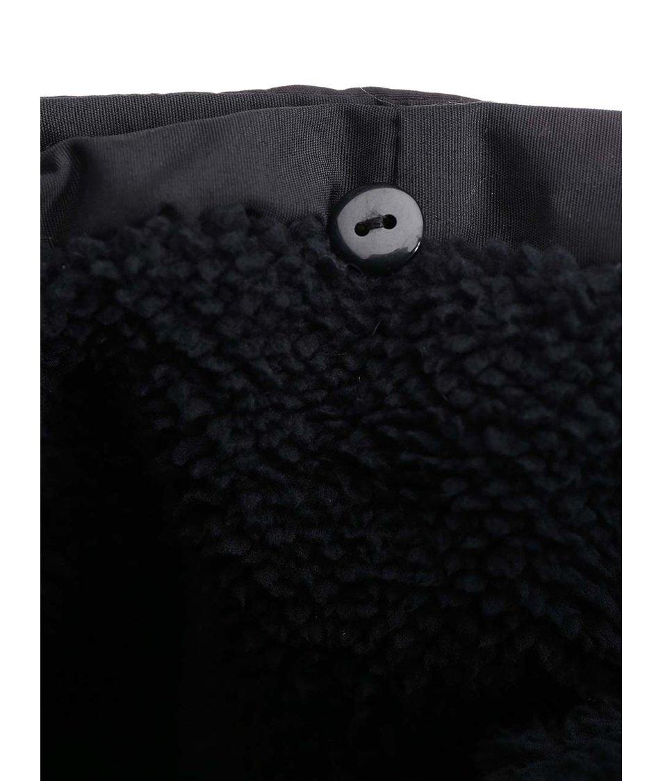 Černá teplá bunda s kapucí ONLY Trick