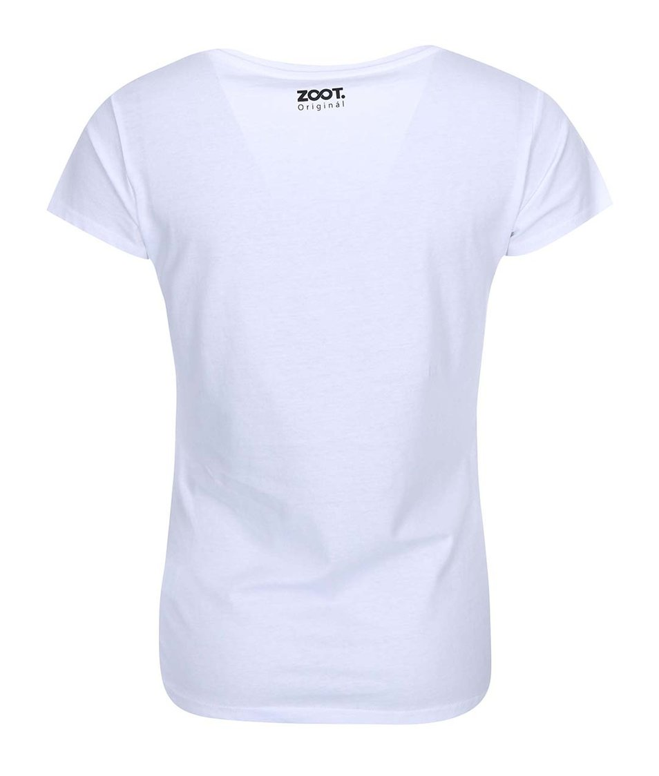 Bílé dámské tričko ZOOT Originál Emotikons