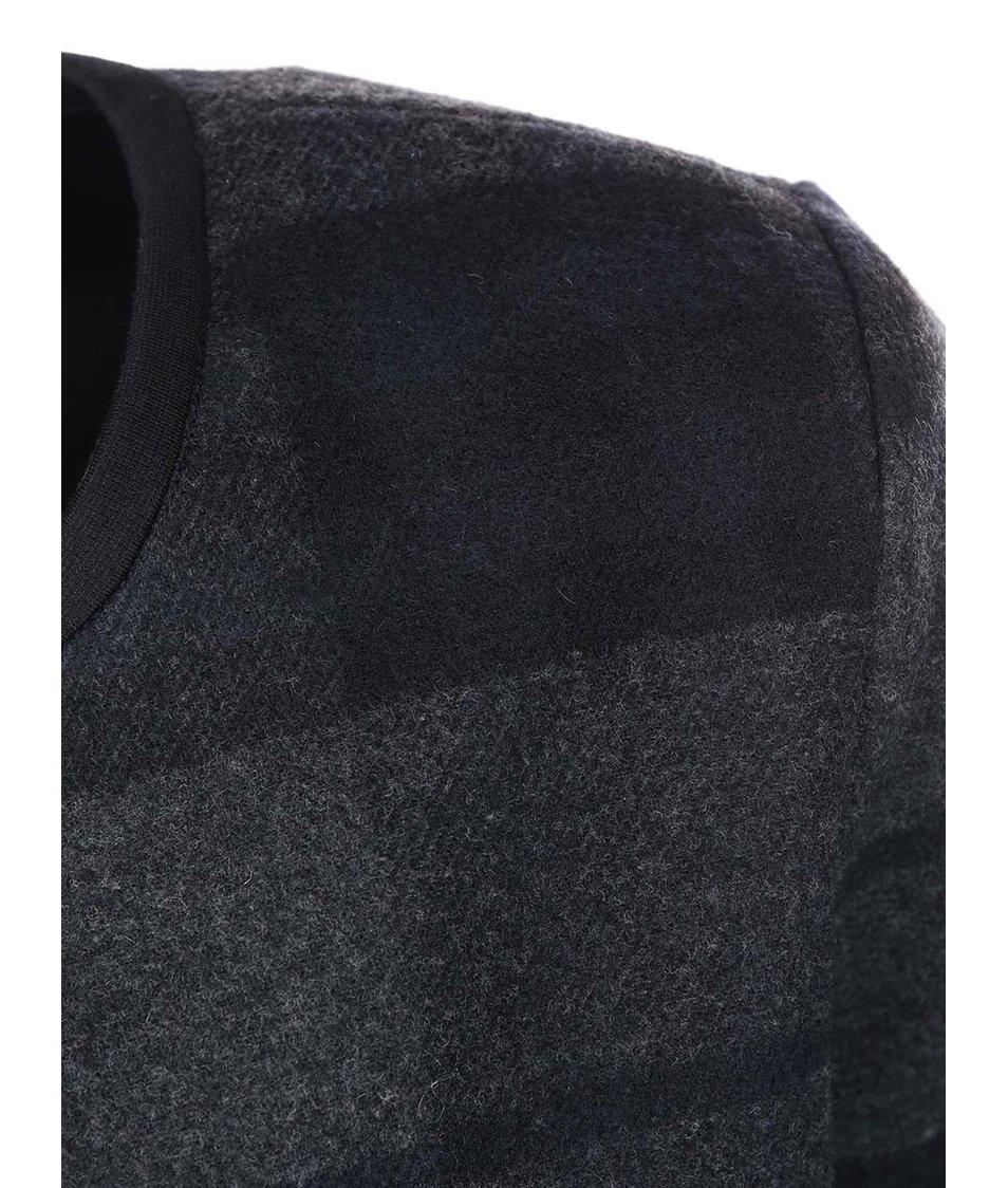 Tmavě šedý kostkovaný kabát ONLY Anni