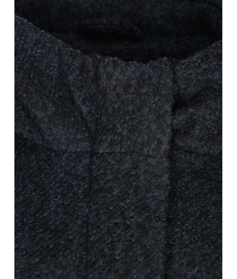 Modročerný žíhaný kabát ONLY Indie