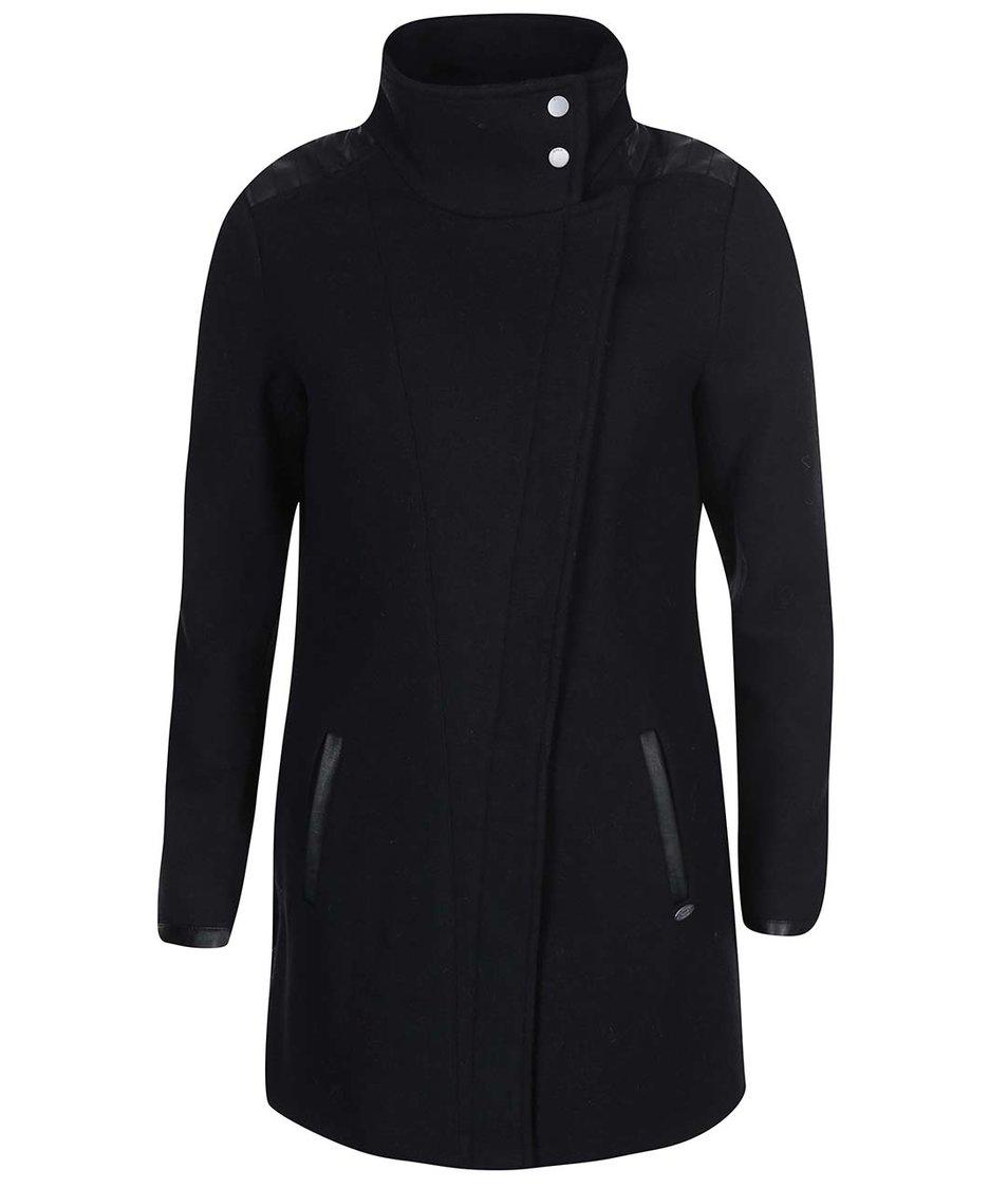 Černý kabát s límcem ONLY Jamie
