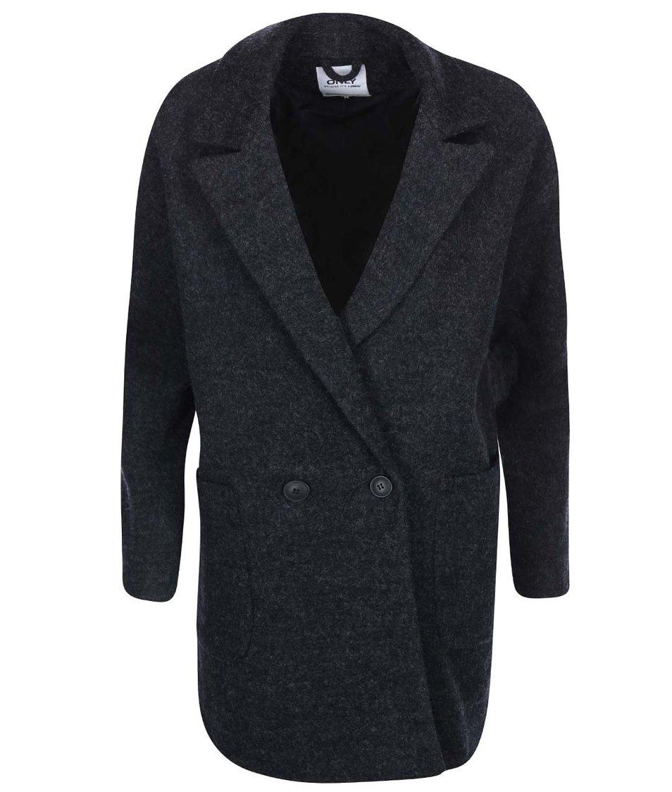 Šedočerný oversize kabát ONLY Covent