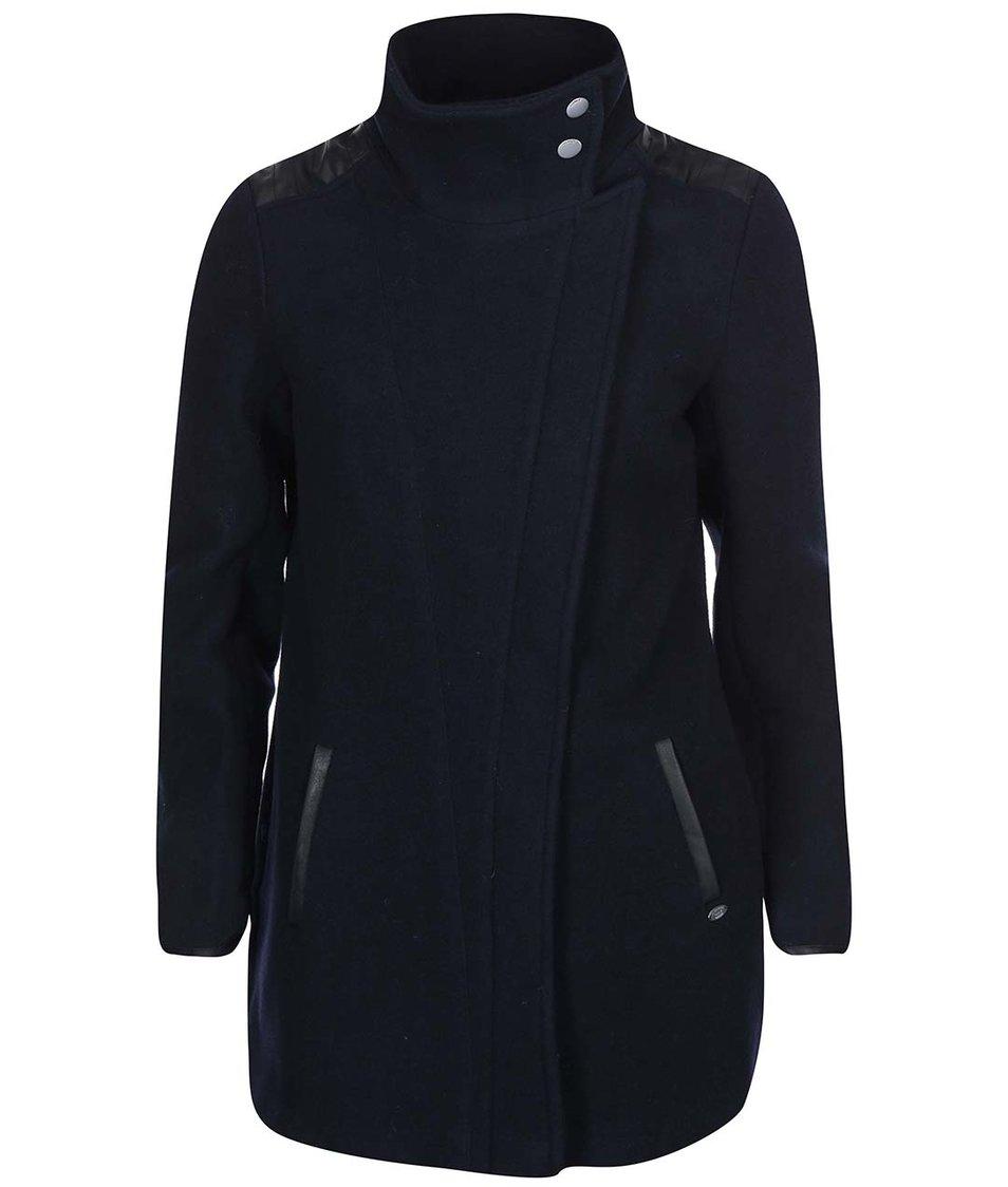 Tmavě modrý kabát s límcem ONLY Jamie