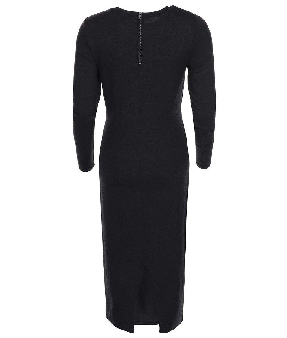Tmavě šedé dlouhé minimalistické šaty ONLY June