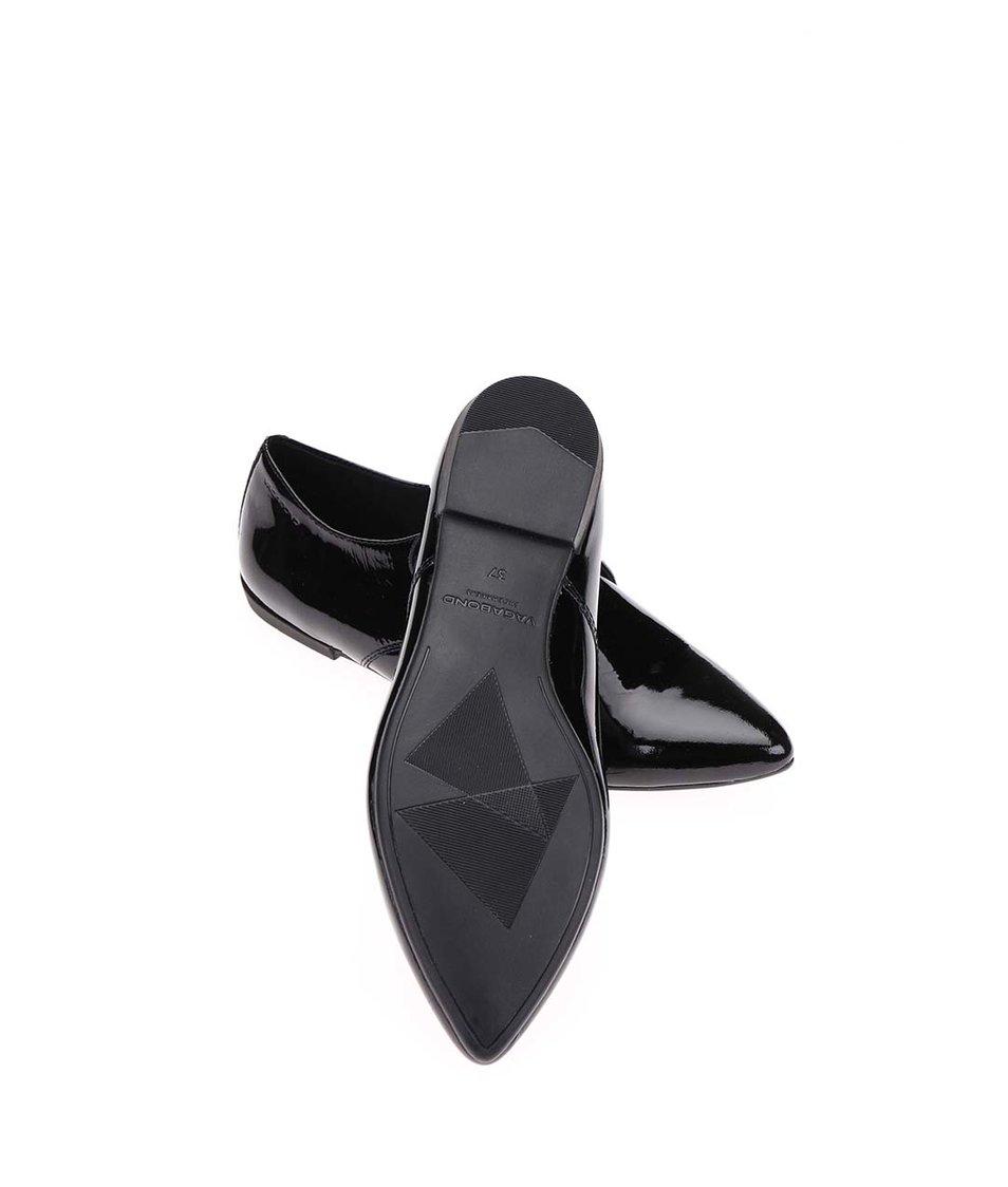 Černé dámské kožené lesklé polobotky Vagabond Aya