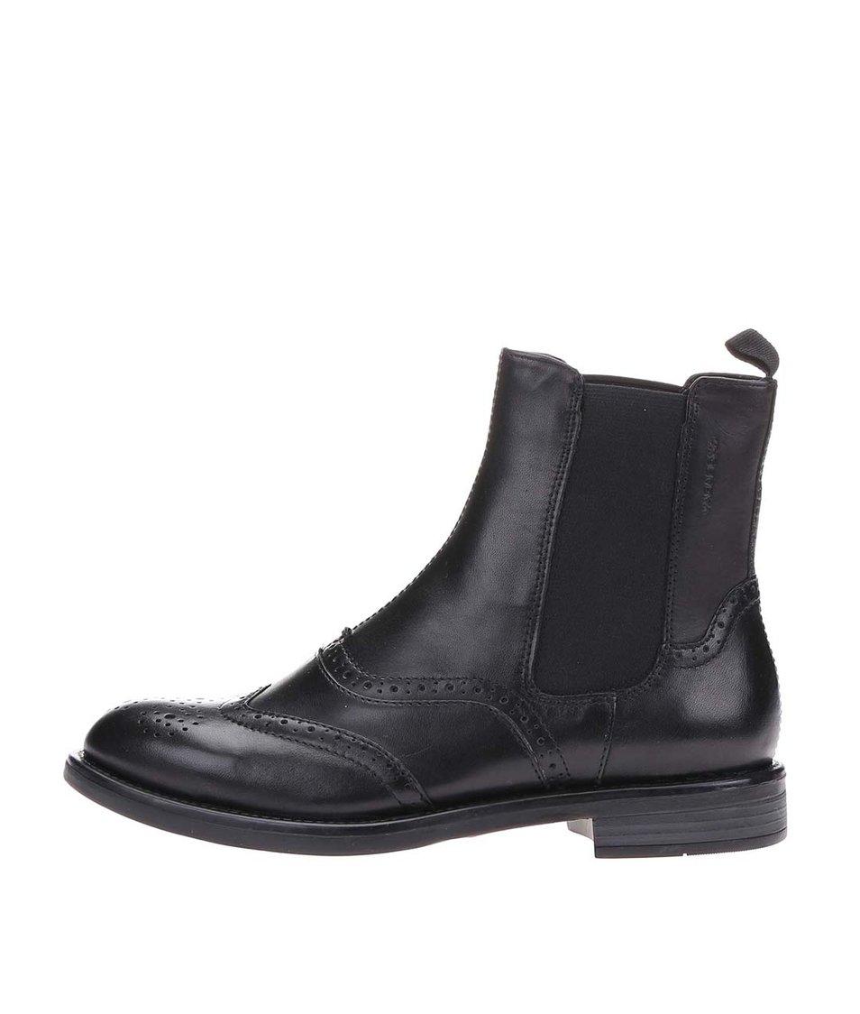 Černé dámské kožené chelsea boty Vagabond Amina
