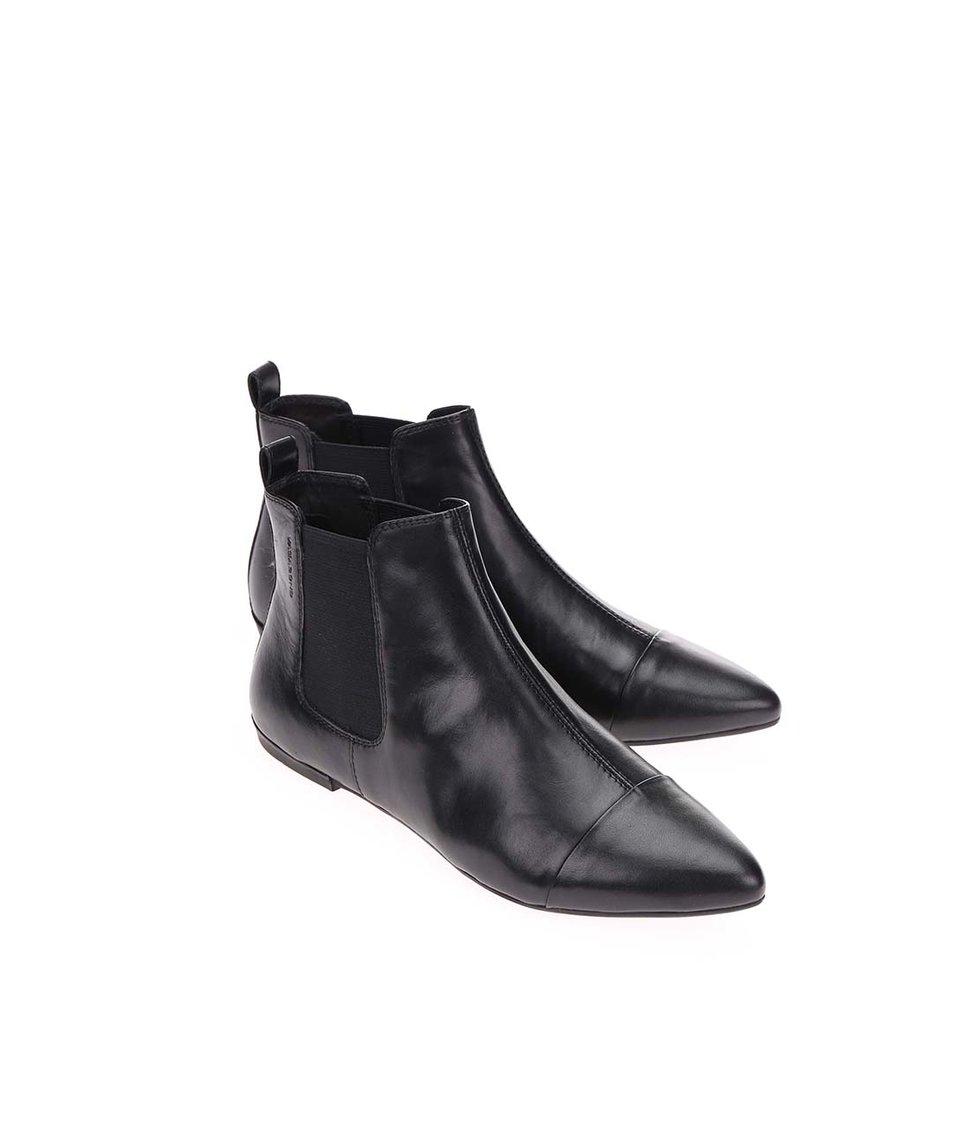 Černé dámské kožené chelsea boty Vagabond Aya
