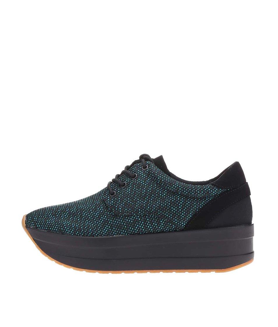 Zeleno-černé dámské boty na platformě Vagabond Casey