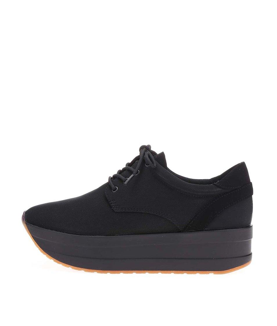 Černé dámské boty na platformě Vagabond Casey