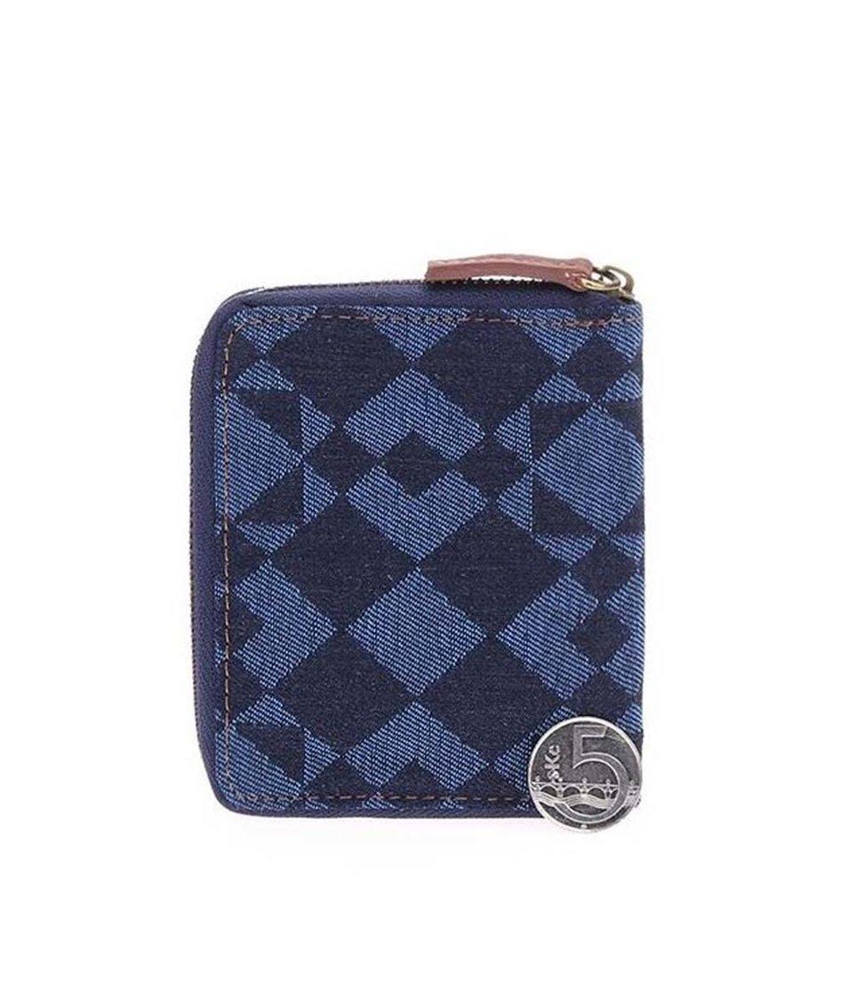 Modrá peněženka se vzorem Icon Brand Diamond Hunt
