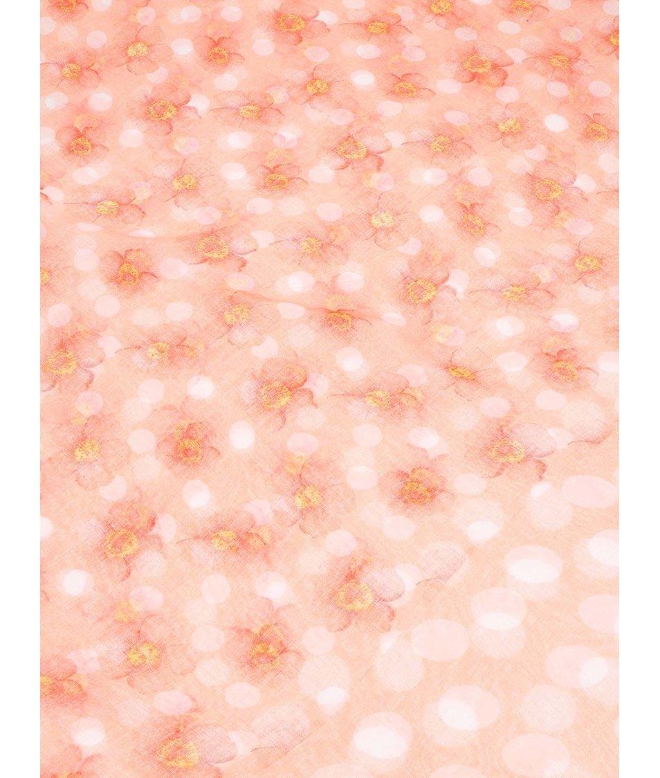 Korálový šátek s puntíky a květy Joe Cool