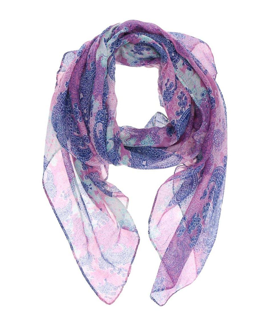 Fialový šátek se vzorem Joe Cool