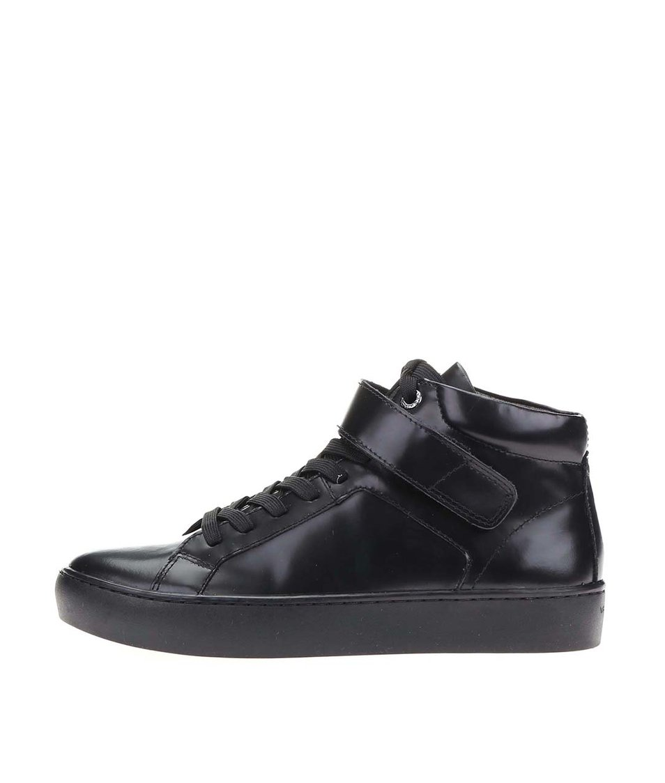 Černé dámské kožené kotníkové boty Vagabond Zoe