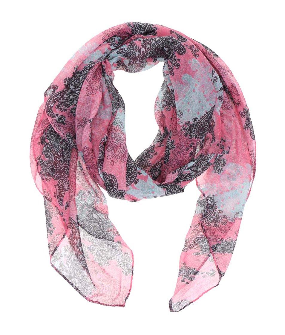 Růžový šátek se vzorem Joe Cool