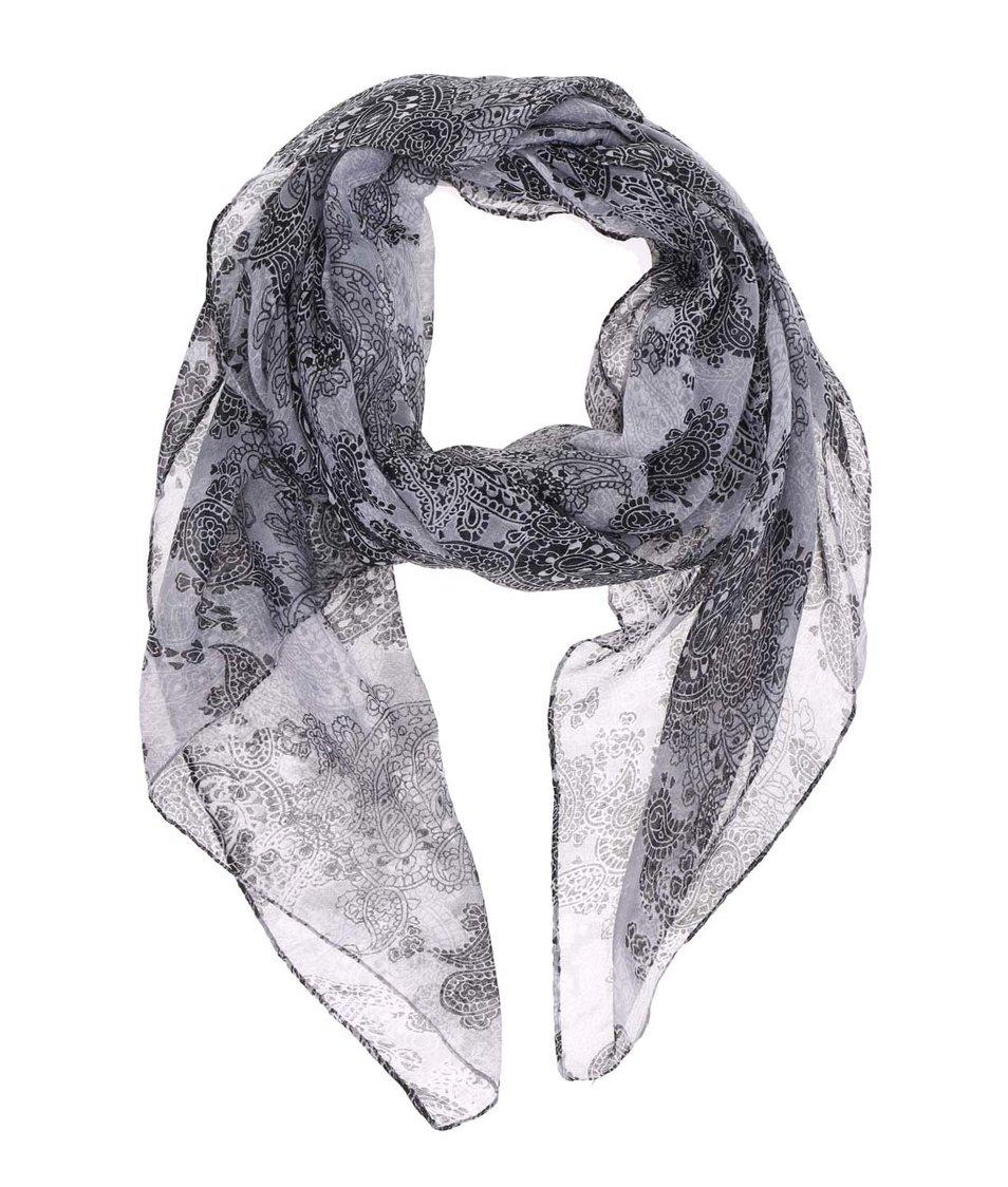 Šedý šátek se vzorem Joe Cool