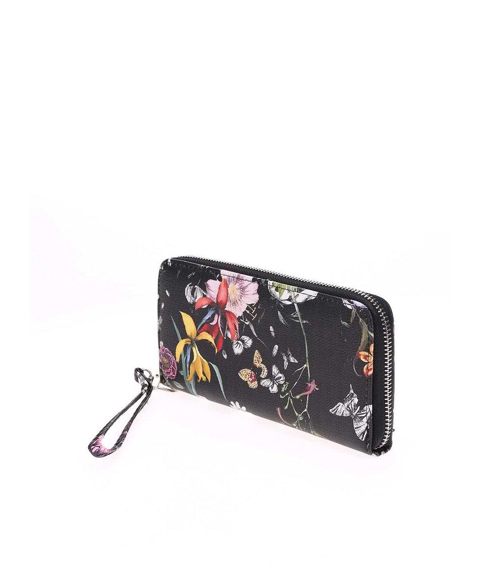 Černá peněženka se vzorem lučních květů Joe Cool