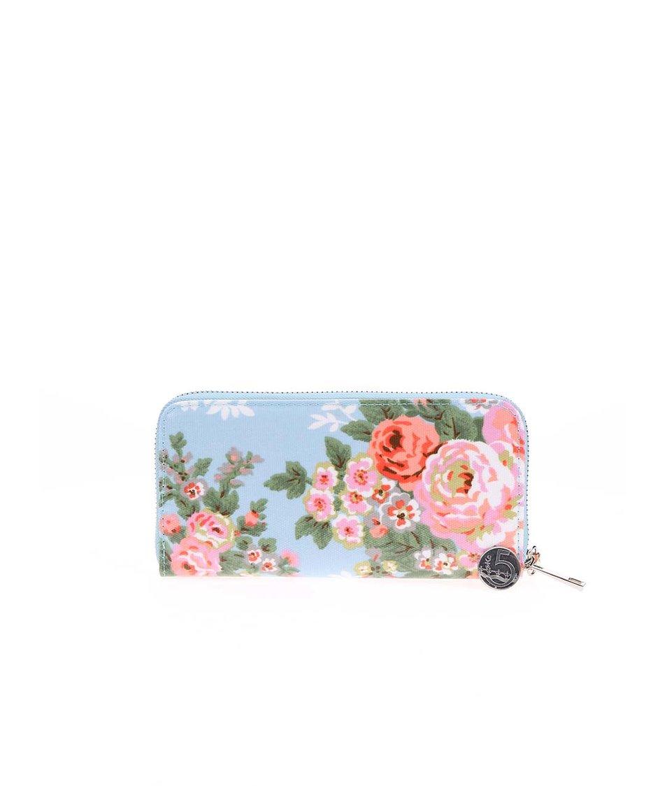 Modrá peněženka s květy Joe Cool