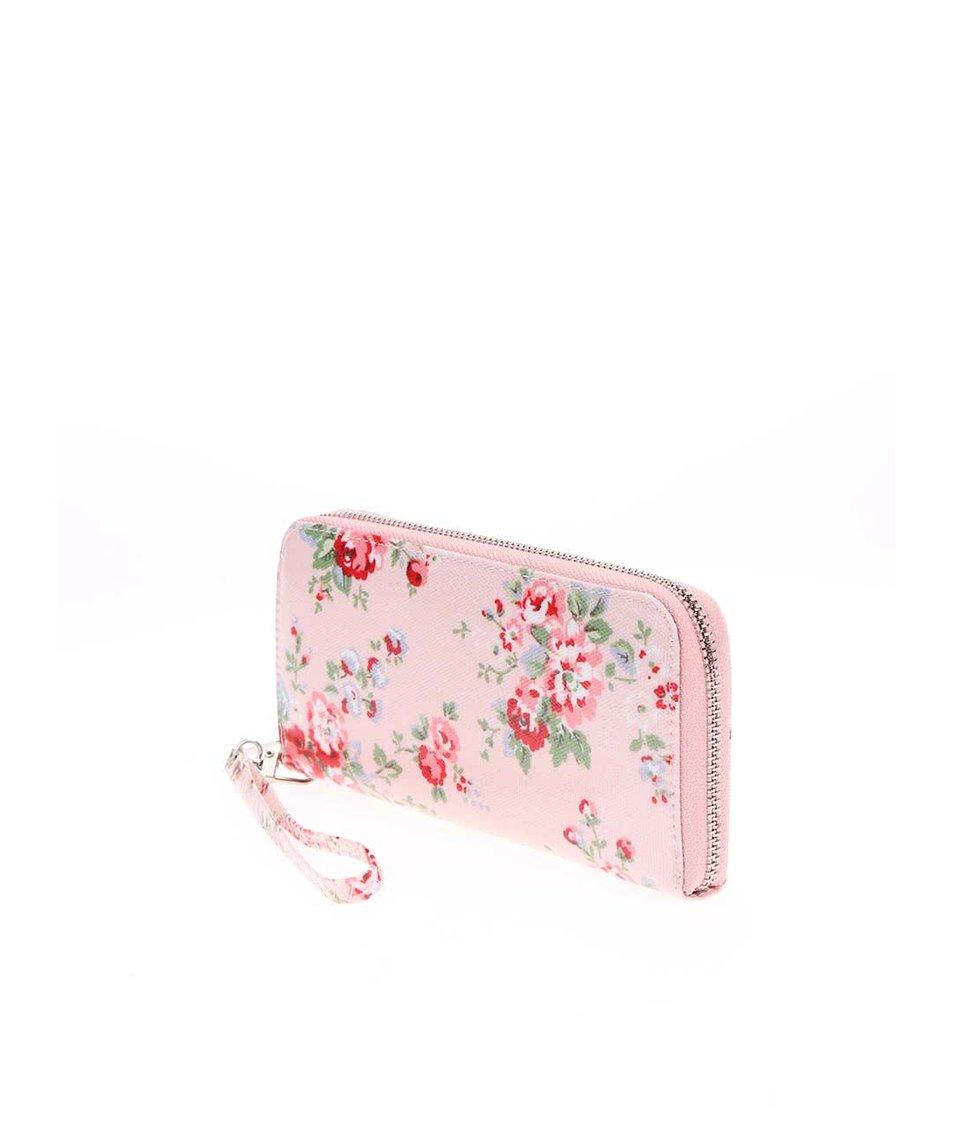 Růžová peněženka s květy Joe Cool