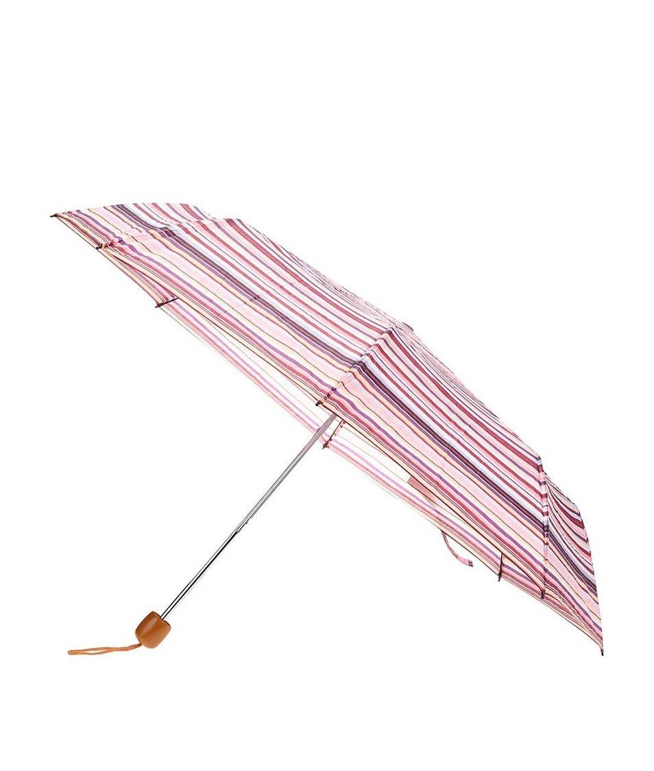 Krémovo-fialovo-růžový pruhovaný deštník Joe Cool