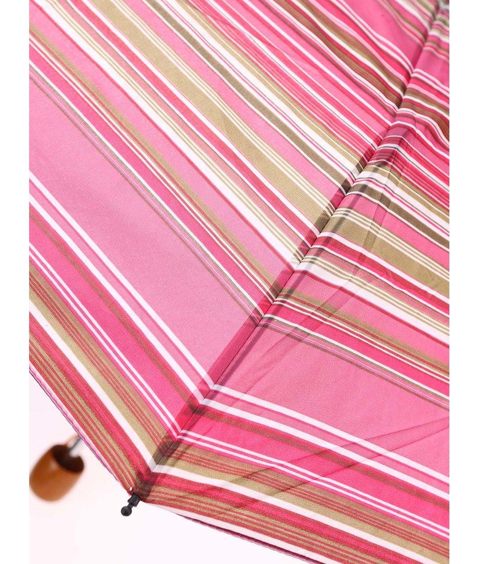 Zeleno-růžový pruhovaný deštník Joe Cool
