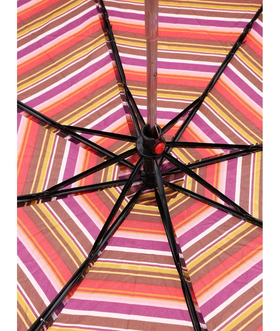 Fialový pruhovaný deštník Joe Cool