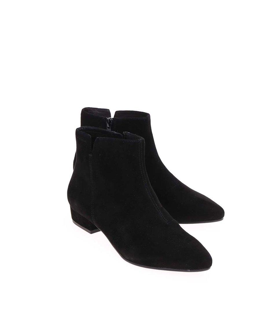 Černé dámské kožené kotníkové boty Vagabond Sarah