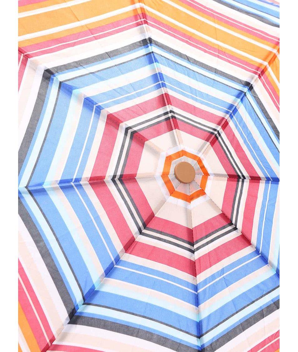 Barevný pruhovaný deštník se vzorem Joe Cool