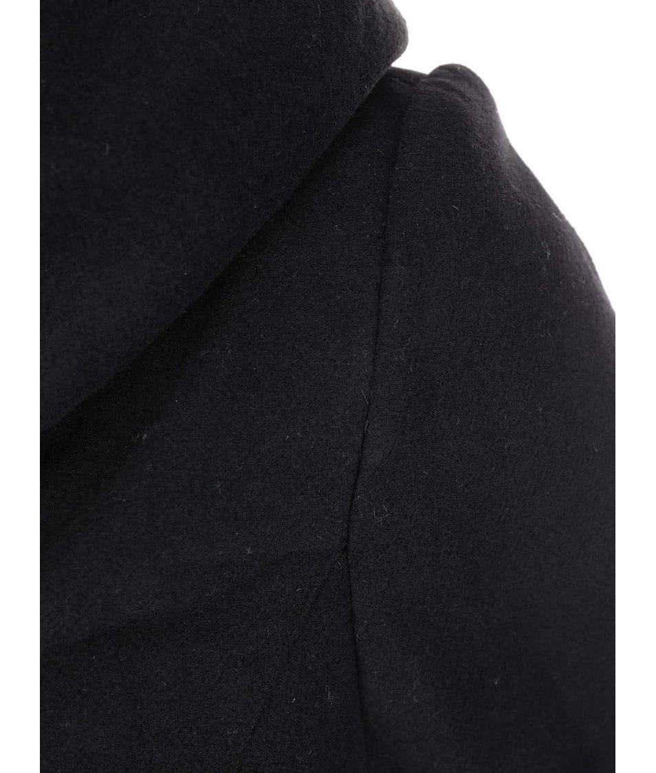 Černý kabát s kapucí Lavand