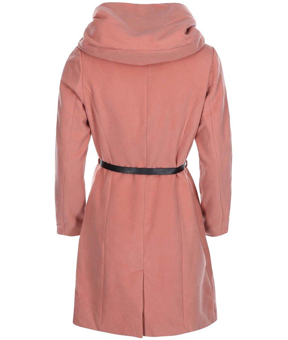 Růžový kabát s kapucí Lavand