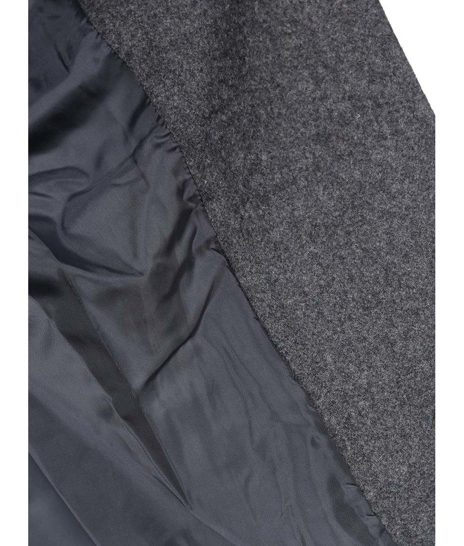 Šedý kabát se zipem Vero Moda Nille Daisy