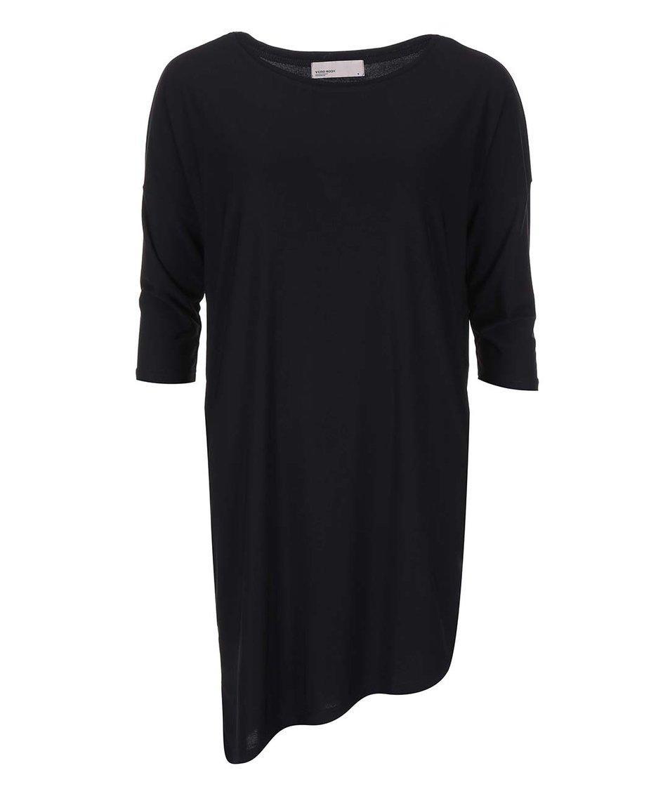 Černé šaty s tříčtvrtečním rukávem Vero Moda Loma