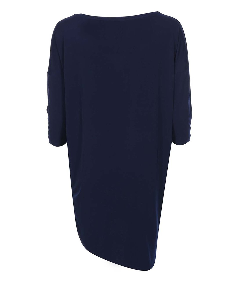 Tmavě modré šaty s tříčtvrtečním rukávem Vero Moda Loma