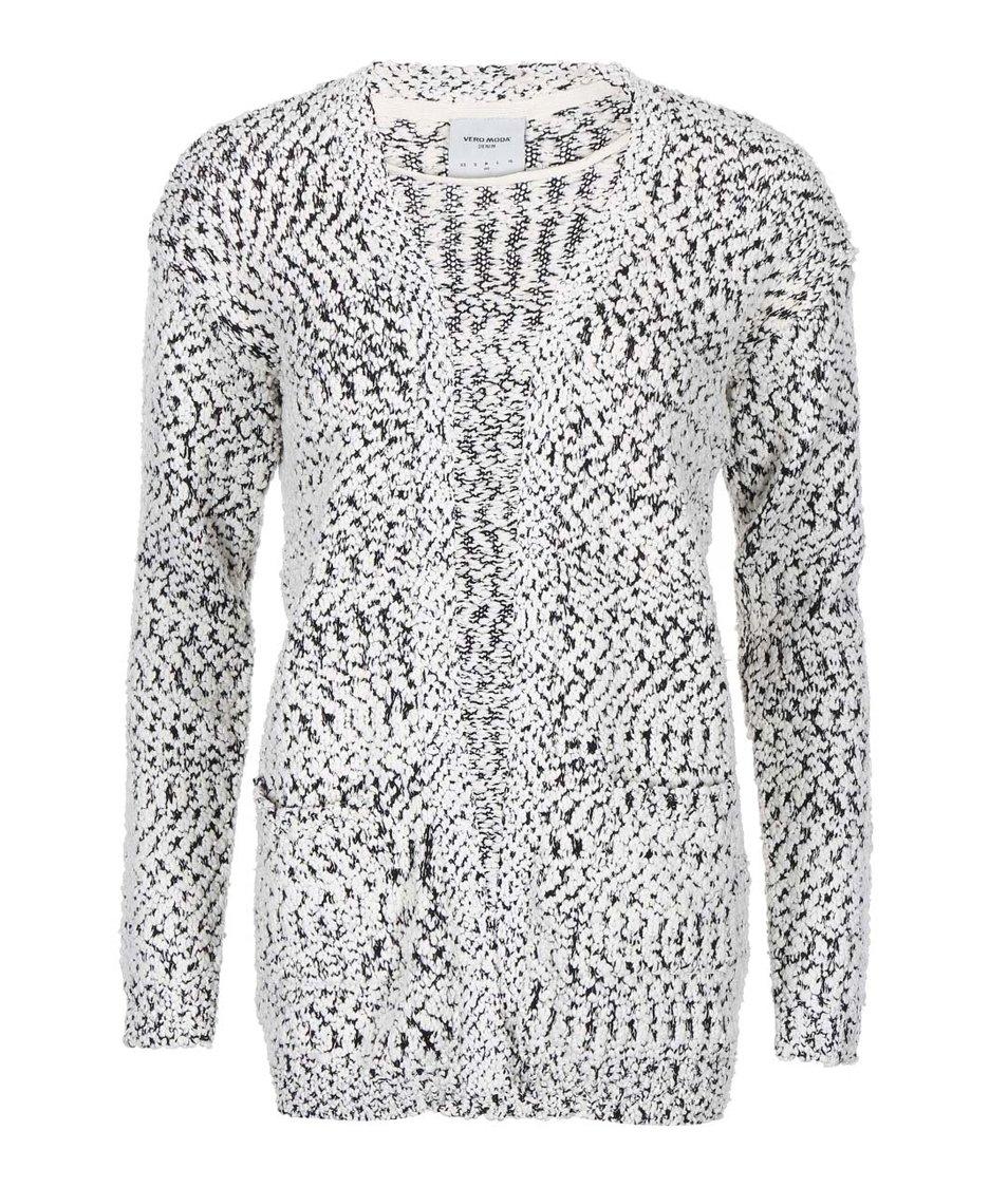 Černo-bílý žíhaný cardigan Vero Moda Kimperly