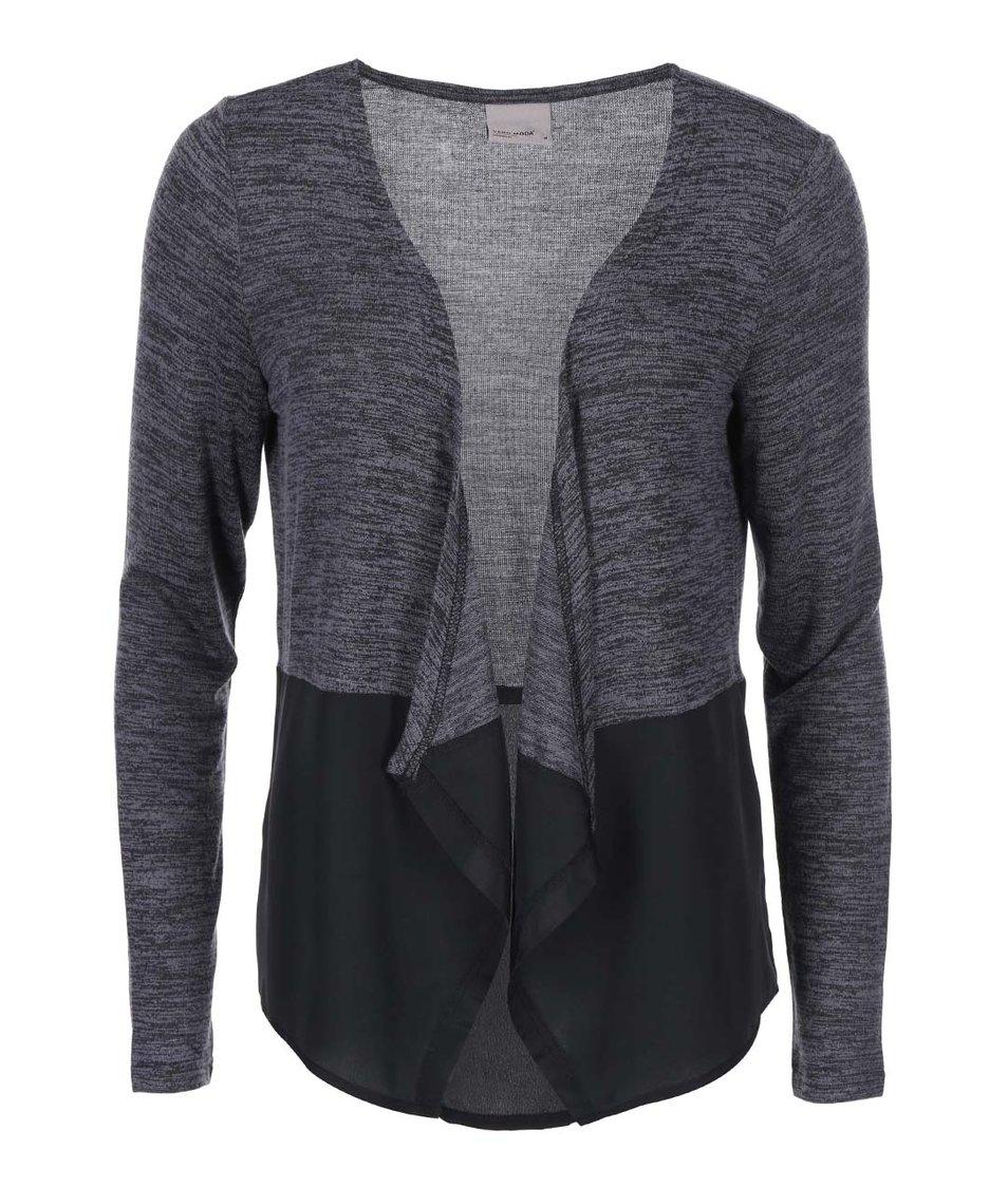 Tmavě šedý žíhaný cardigan Vero Moda Signe