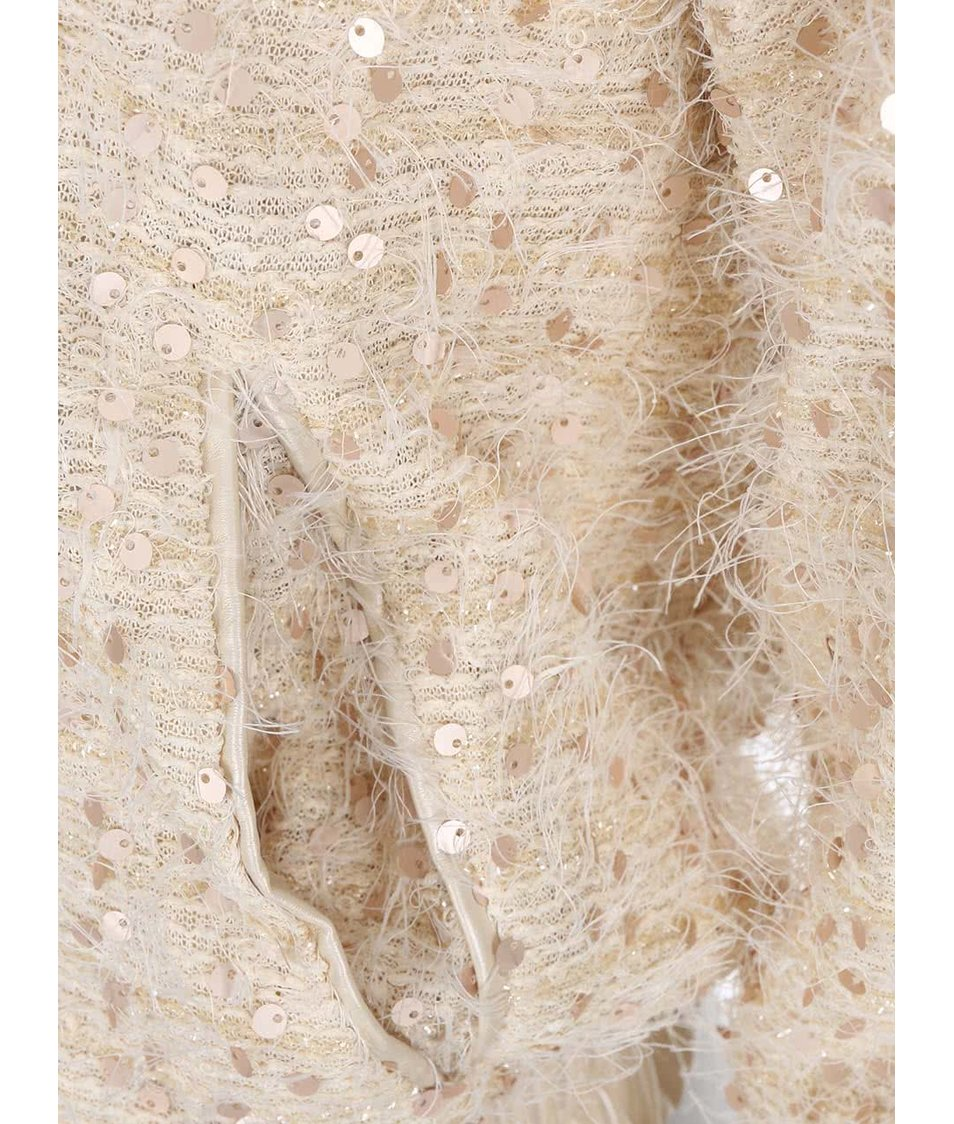 Krémová lehká bunda s flitry Lavand