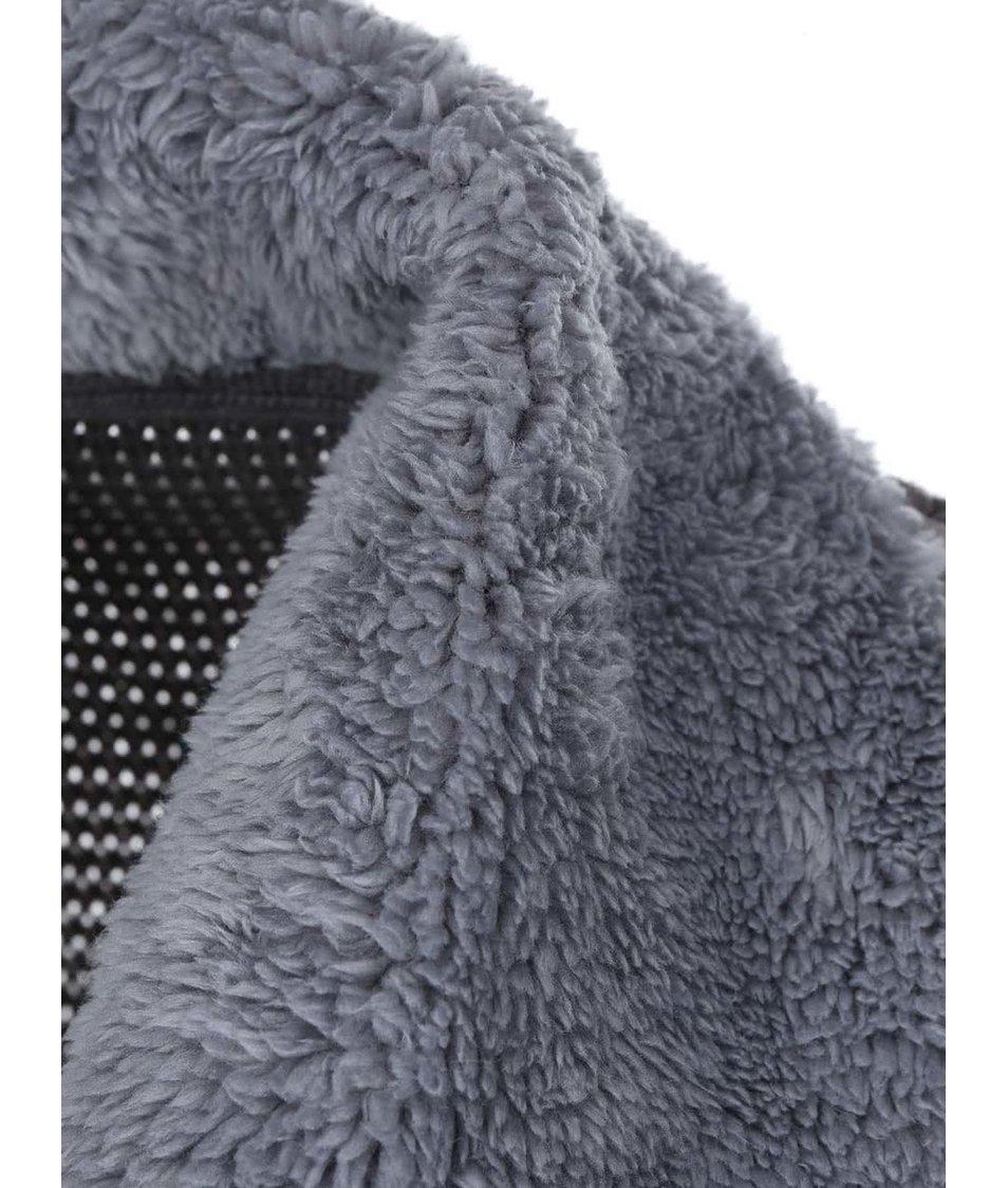 Šedý cardigan se širokým límcem Lavand