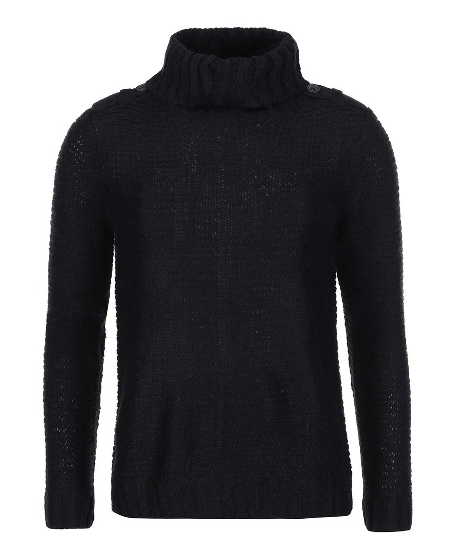 Černý svetr s rolákem Vero Moda Celeste