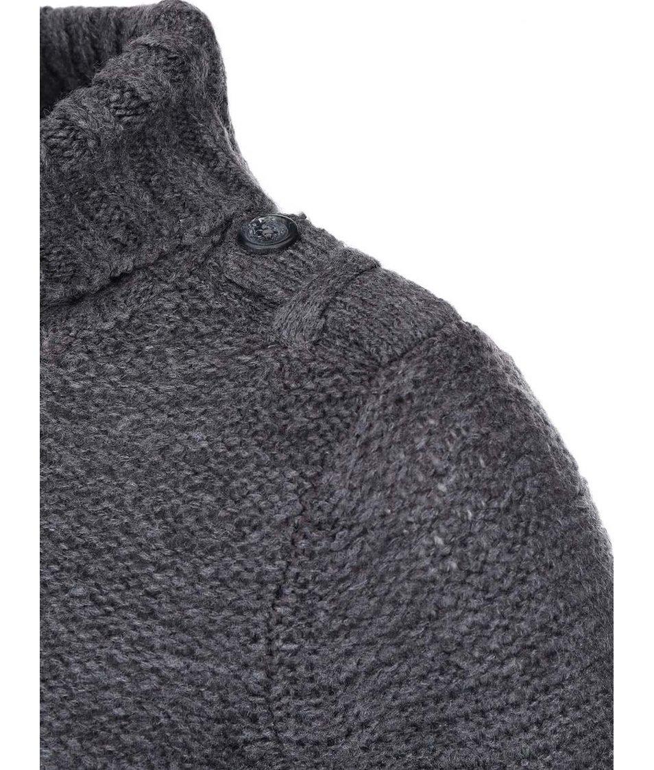 Tmavě šedý svetr s rolákem Vero Moda Celeste