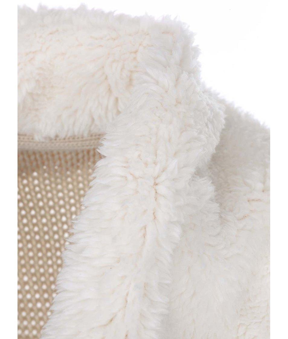 Krémový cardigan se širokým límcem Lavand