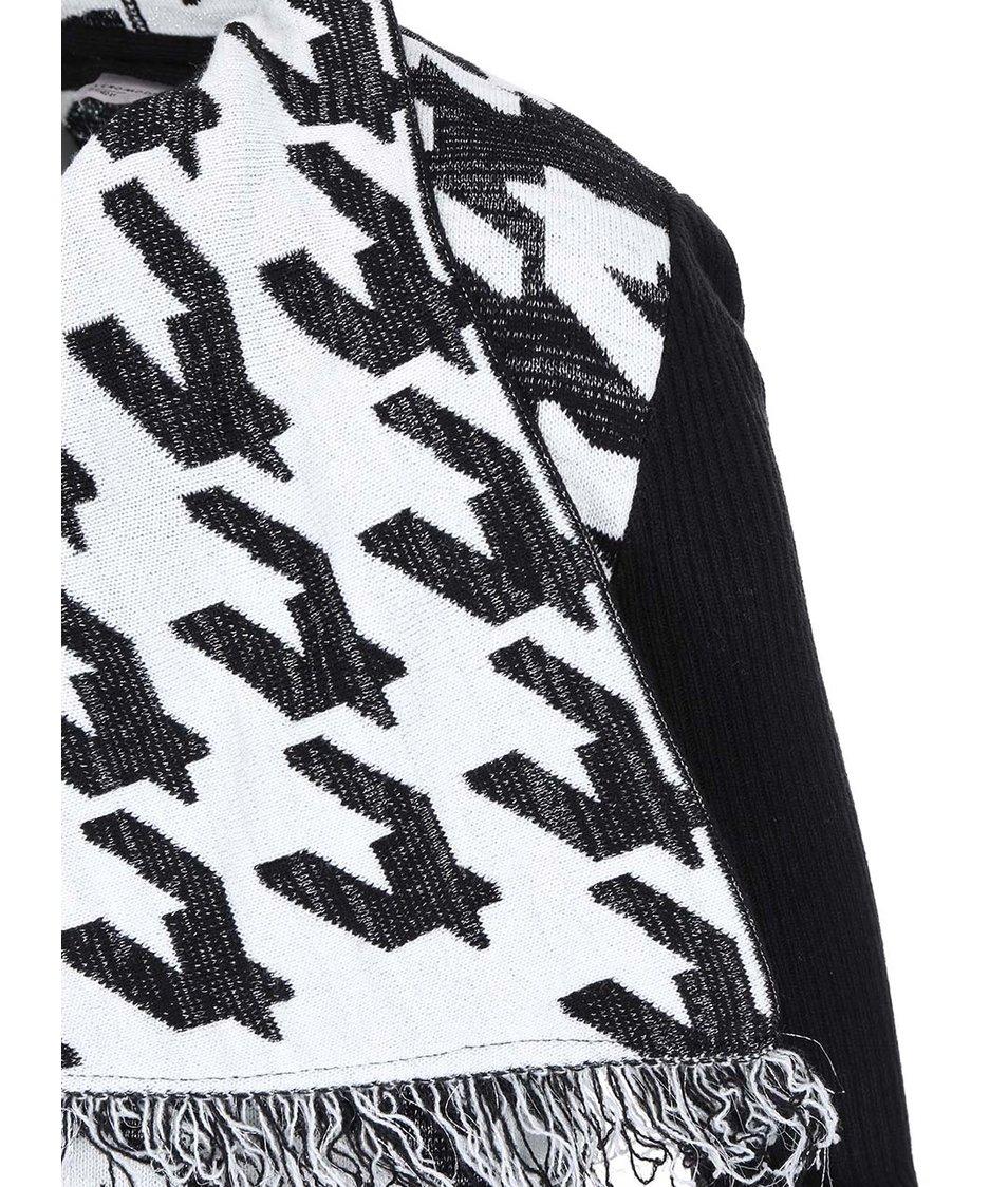 Černo-bílý cardigan s kohoutí stopou Vero Moda Milly