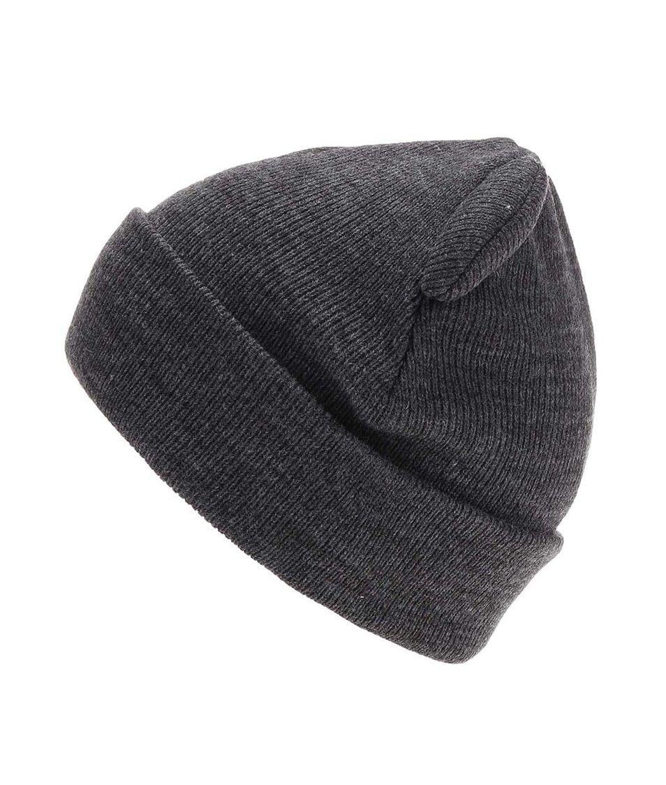 Tmavě šedá čepice Vero Moda Teddy Beanie