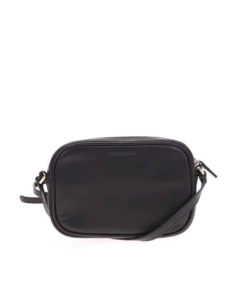 Černá malá kožená kabelka Vagabond