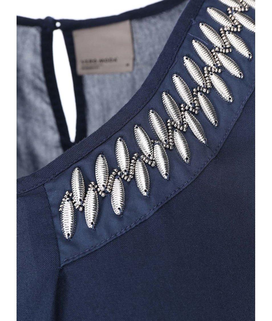 Tmavě modrý top Vero Moda New Bead