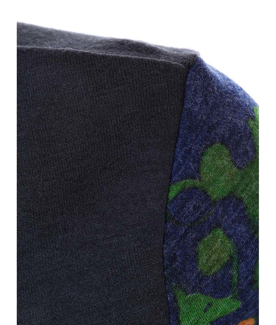 Modro-zelené šaty s dlouhým rukávem Lavand