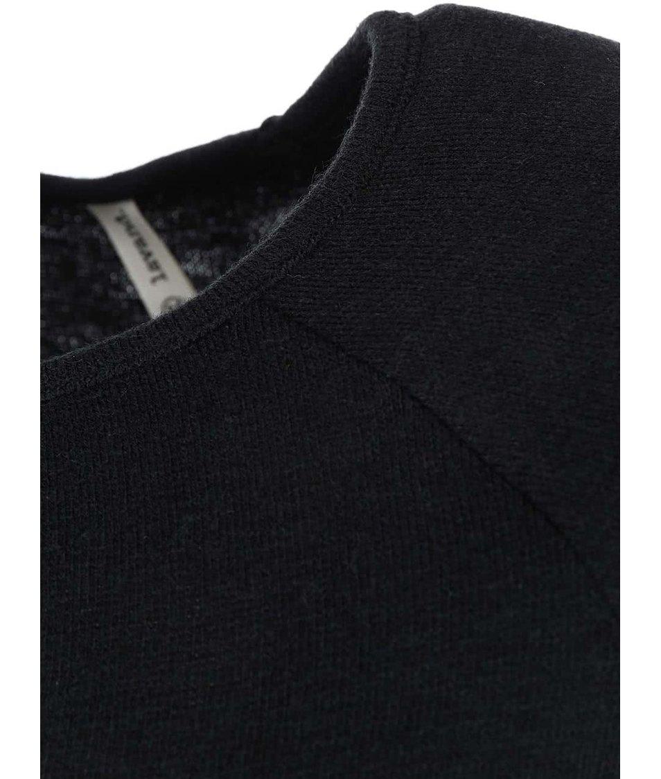 Černé šaty s fialovo-krémovým potiskem Lavand
