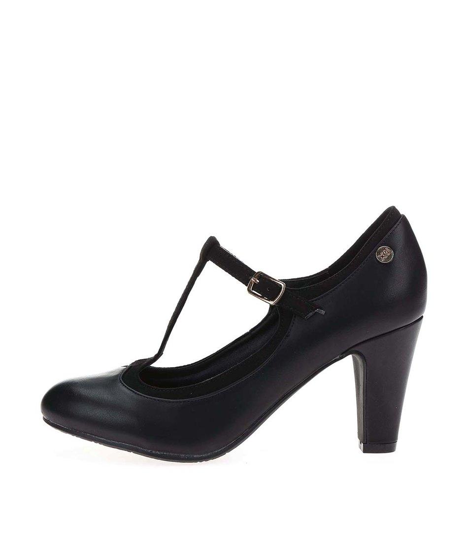 Černé boty na podpatku Xti
