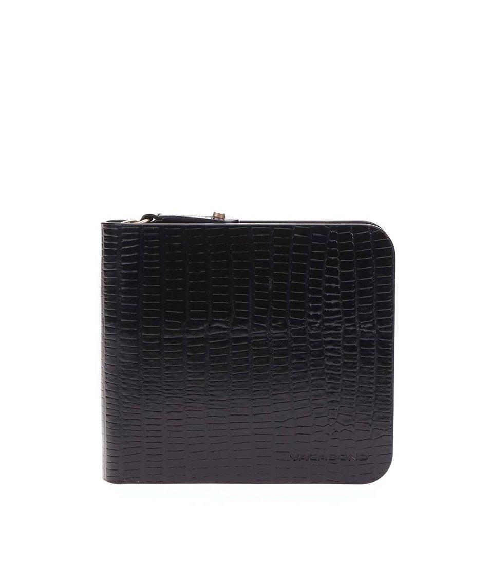 Černá dámská kožená peněženka s hadím vzorem Vagabond