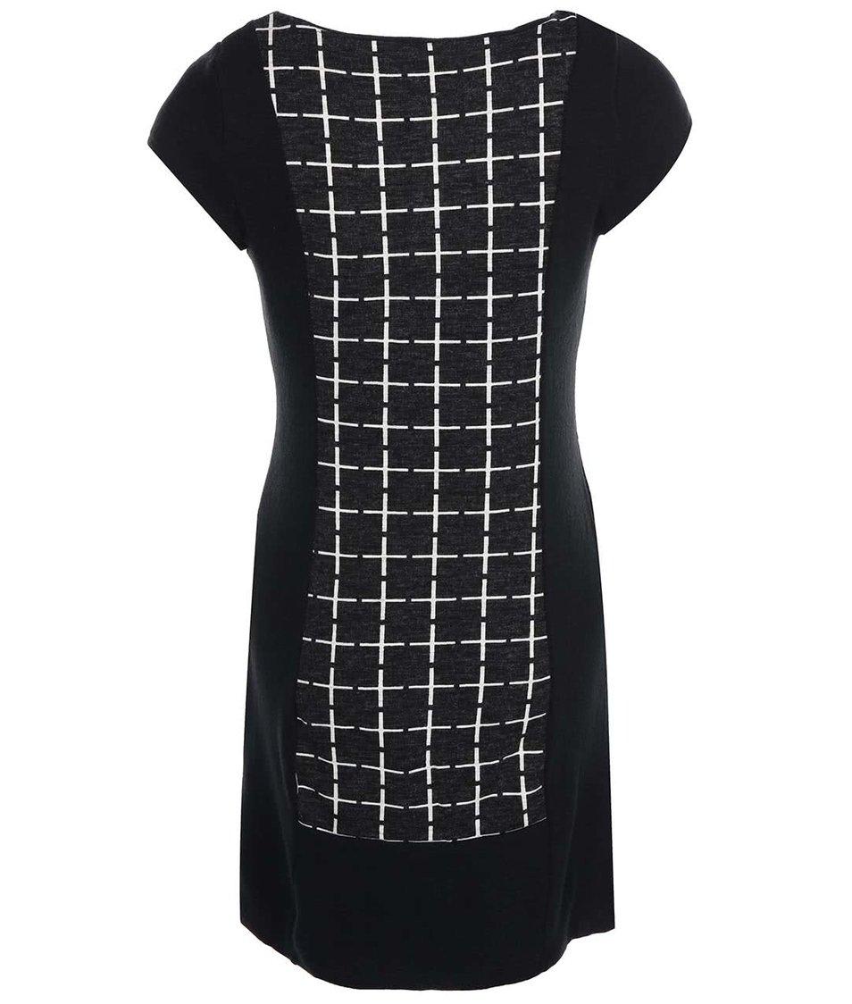 Černé šaty se vzorem Lavand