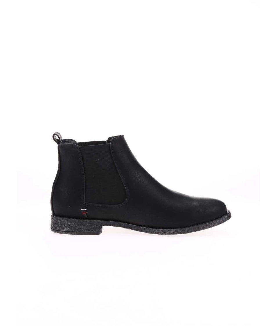 Černé chelsea boty s matným povrchem Refresh